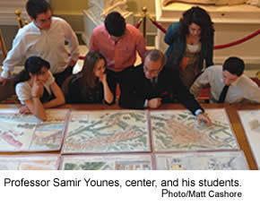Professor Younes and his students