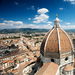 Aerial view of Duomo in Florence, Italy