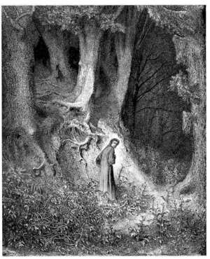 Gustave Dore Dante Al Ighieri Inferno Plate 1 I Found Myself Within A Forest Dark