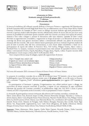 Laureatus In Urbe Cfp 2021