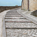 Cobblestone street in Umbria